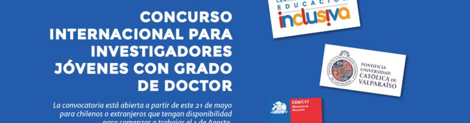 CENTRO DE EDUCACIÓN INCLUSIVA LLAMA A CONCURSO INTERNACIONAL PARA CONTRATAR A INVESTIGADORES JÓVENES CON GRADO DE DOCTOR