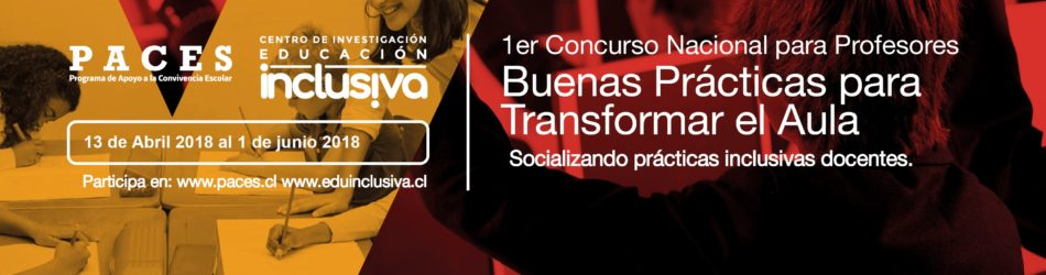 CENTRO EDUINCLUISIVA Y PROGRAMA PACES PUCV LANZAN CONCURSO DE BUENAS PRÁCTICAS EN EL AULA